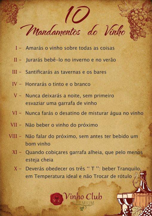 Dez Mandamentos do Vinho